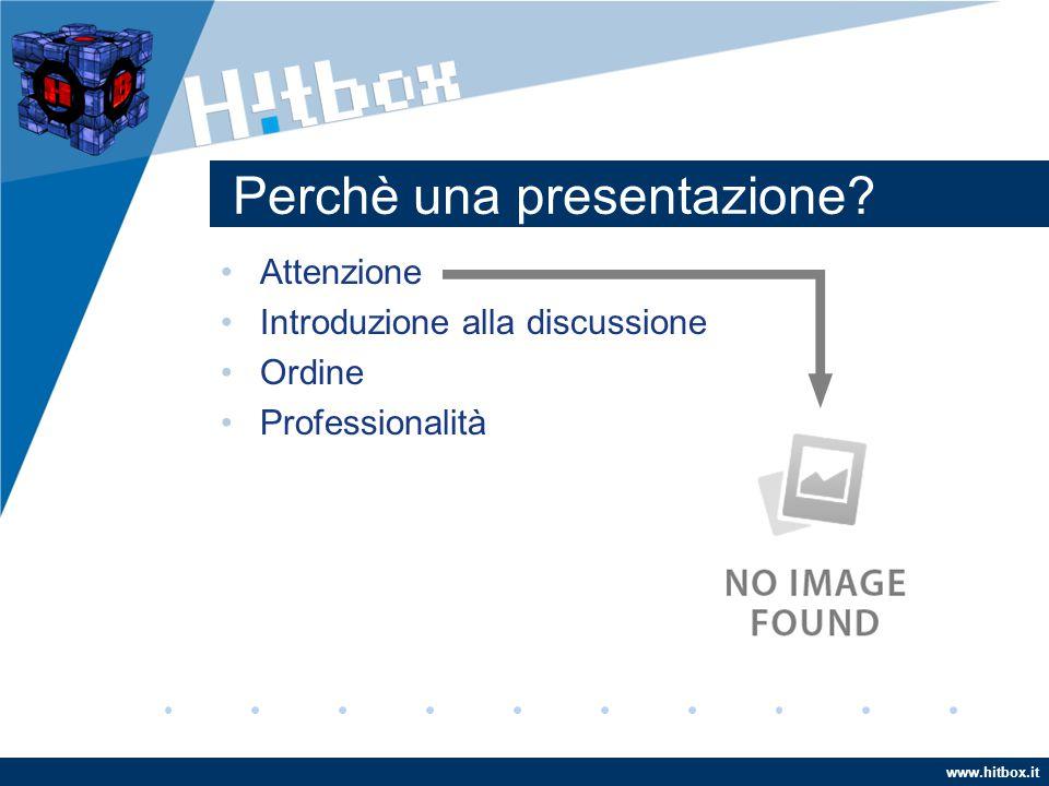 Perchè una presentazione Attenzione Introduzione alla discussione Ordine Professionalità