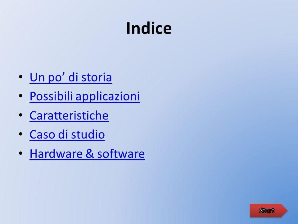 Indice Un po' di storia Possibili applicazioni Caratteristiche Caso di studio Hardware & software