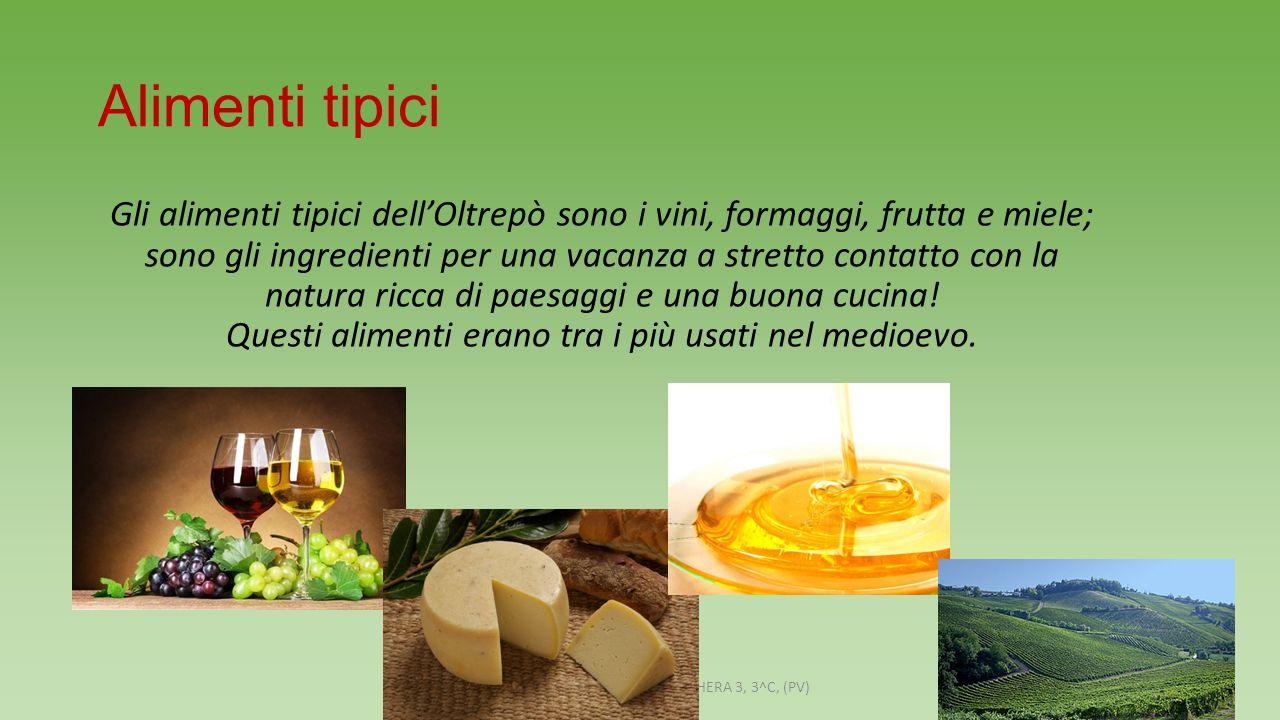 Alimenti tipici Gli alimenti tipici dell'Oltrepò sono i vini, formaggi, frutta e miele; sono gli ingredienti per una vacanza a stretto contatto con la natura ricca di paesaggi e una buona cucina.