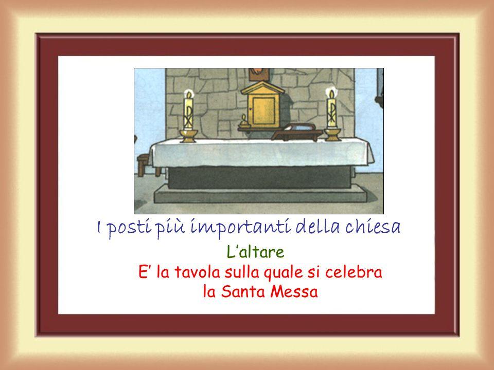 I posti più importanti della chiesa Il Tabernacolo dove si conserva con devozione l'Eucaristia che è il Corpo di Gesù