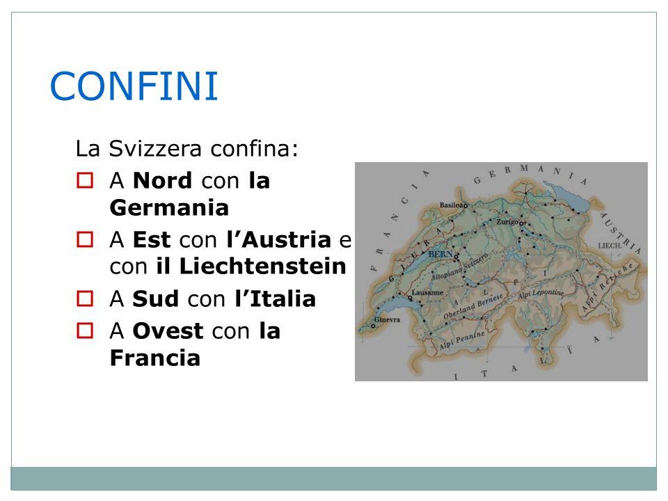 ESTENSIONE  La superficie della Svizzera è molto minore di quella italiana SvizzeraItalia La superficie svizzera in confronto a quella italiana