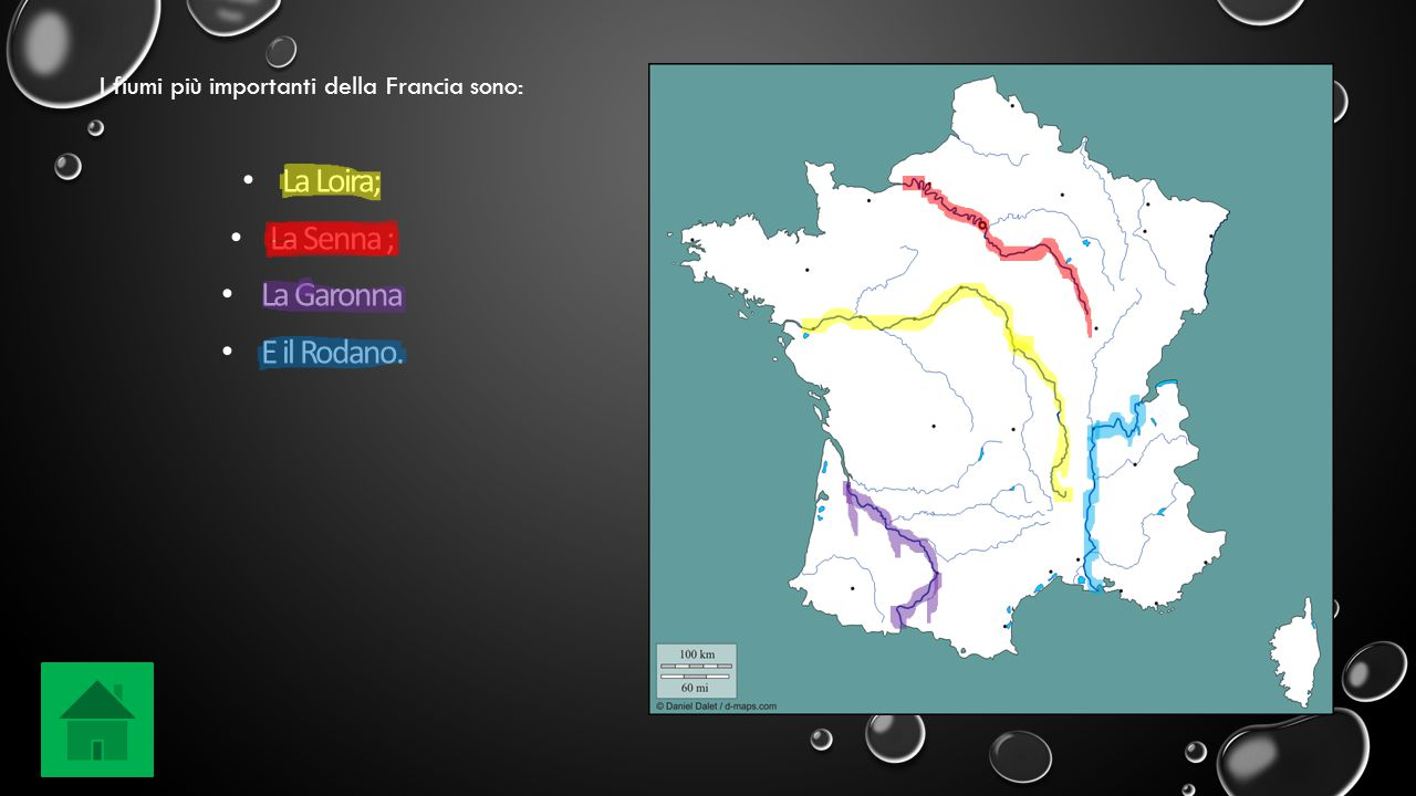La Loira; La Senna ; La Garonna E il Rodano. I fiumi più importanti della Francia sono: