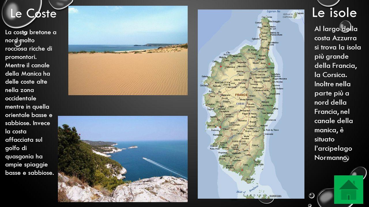 Le isole Al largo della costa Azzurra si trova la isola più grande della Francia, la Corsica. Inoltre nella parte più a nord della Francia, nel canale