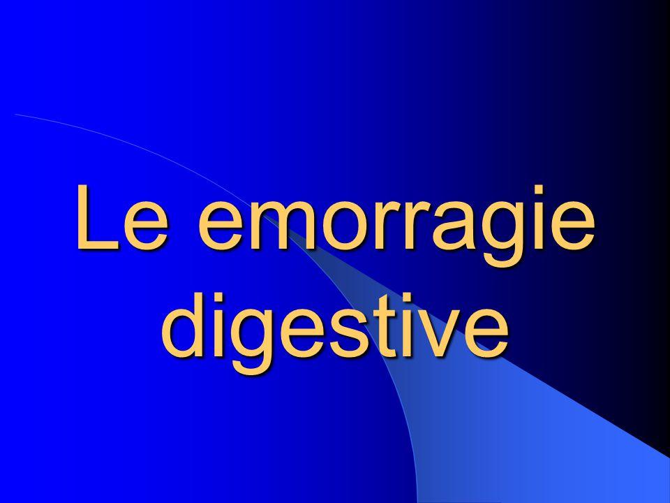 Le emorragie digestive