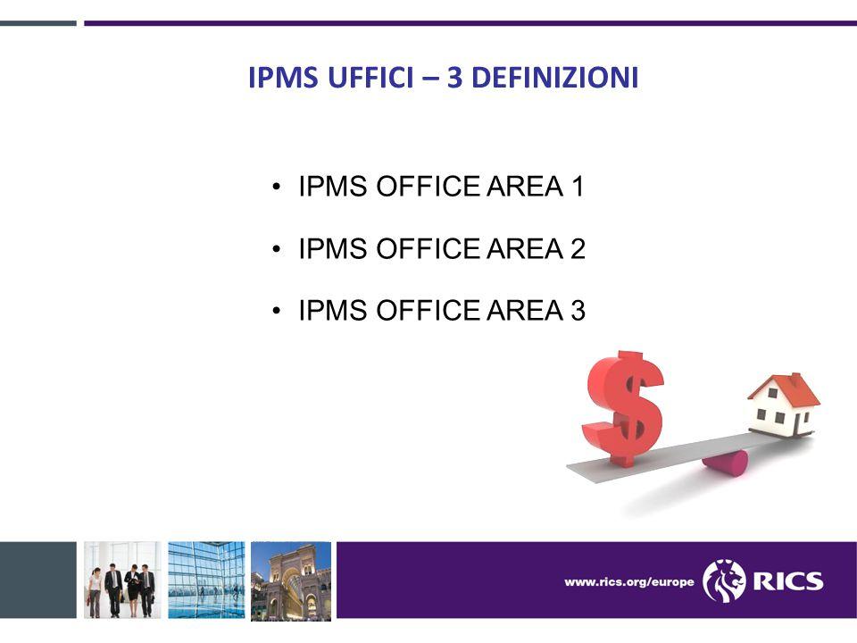 IPMS OFFICE AREA 1 DEFINIZIONE: la misurazione comprende i muri perimetrali esterni.