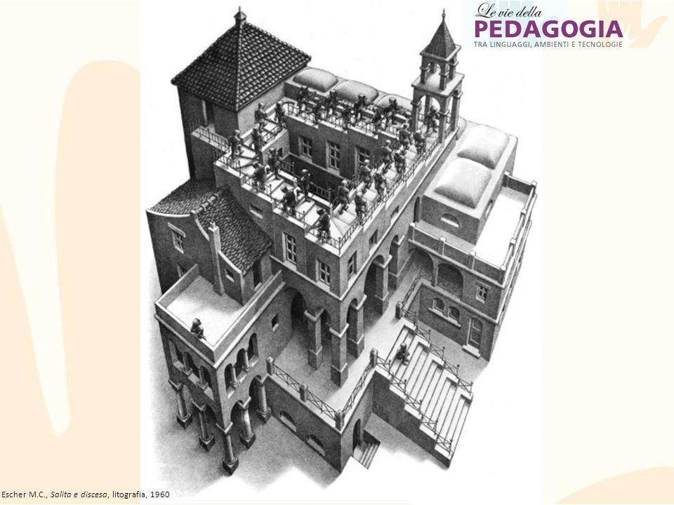 Escher M.C., Salita e discesa, litografia, 1960