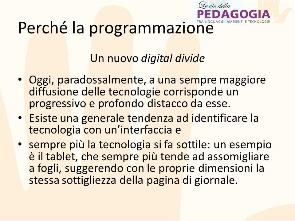 Un nuovo digital divide Oggi, paradossalmente, a una sempre maggiore diffusione delle tecnologie corrisponde un progressivo e profondo distacco da ess