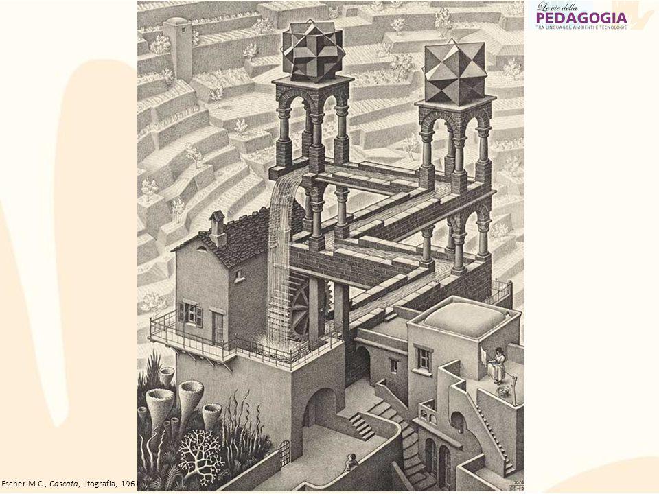 Ancora ESCHER Escher M.C., Cascata, litografia, 1961