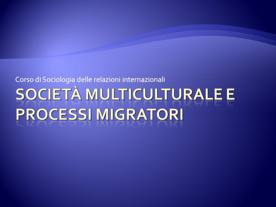 Corso di Sociologia delle relazioni internazionali