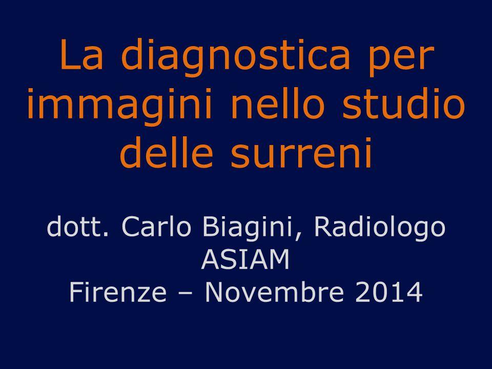 La diagnostica per immagini nello studio delle surreni dott.