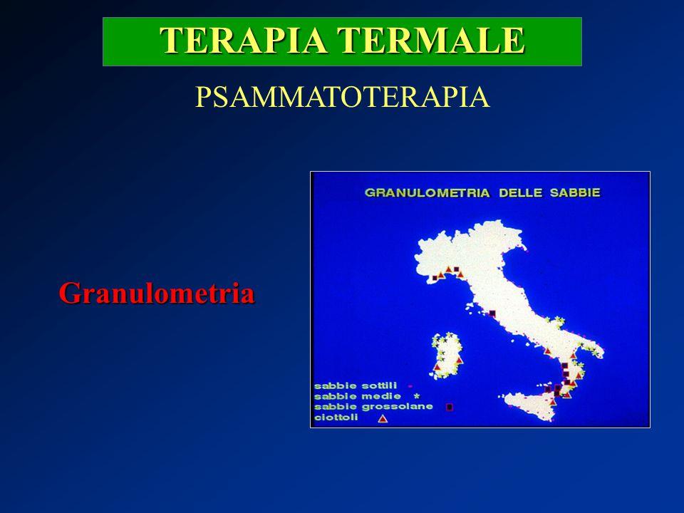 TERAPIA TERMALE PSAMMATOTERAPIA Granulometria