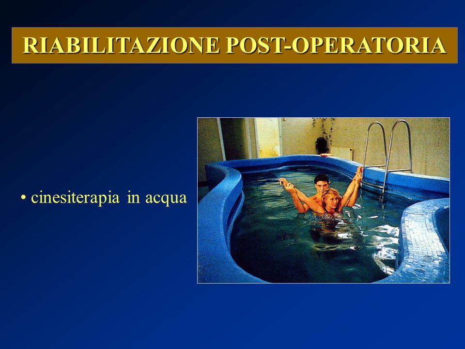 RIABILITAZIONE POST-OPERATORIA cinesiterapia in acqua