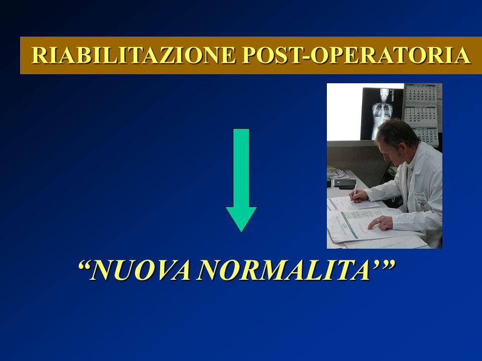 """RIABILITAZIONE POST-OPERATORIA """"NUOVA NORMALITA'"""""""