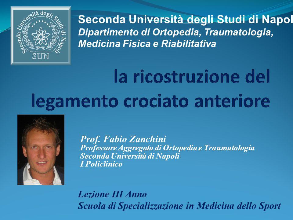 Prof. Fabio Zanchini Professore Aggregato di Ortopedia e Traumatologia Seconda Università di Napoli I Policlinico Lezione III Anno Scuola di Specializ