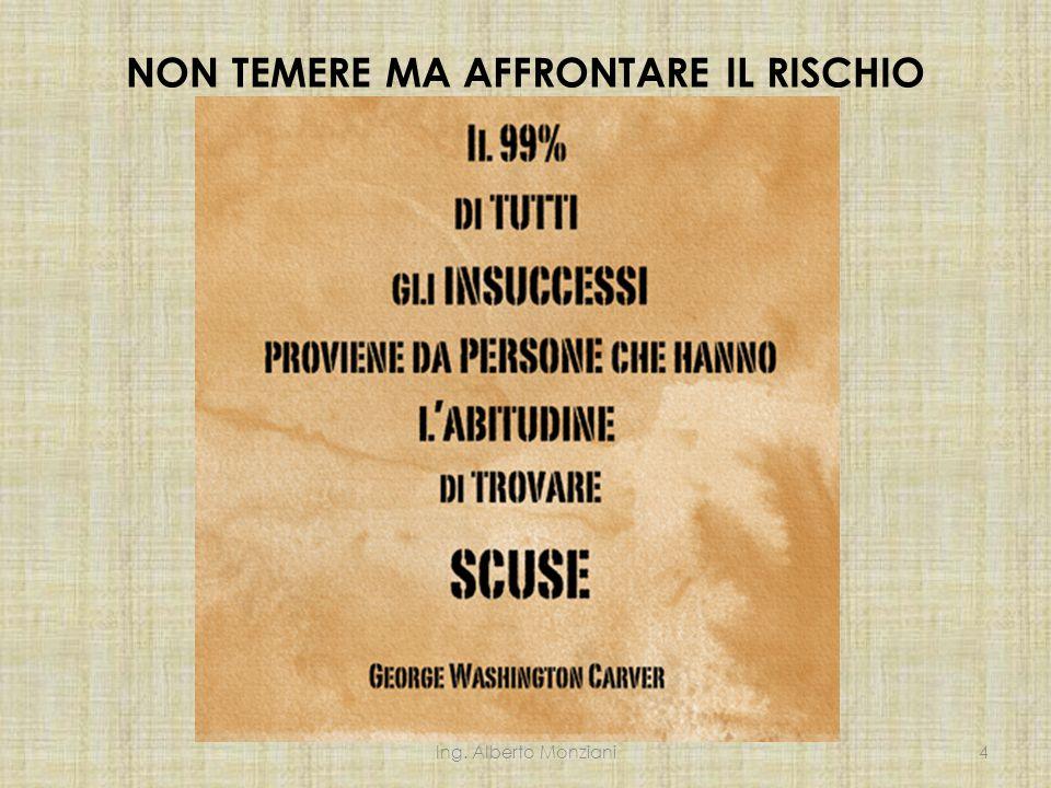 NON TEMERE MA AFFRONTARE IL RISCHIO Ing. Alberto Monziani4