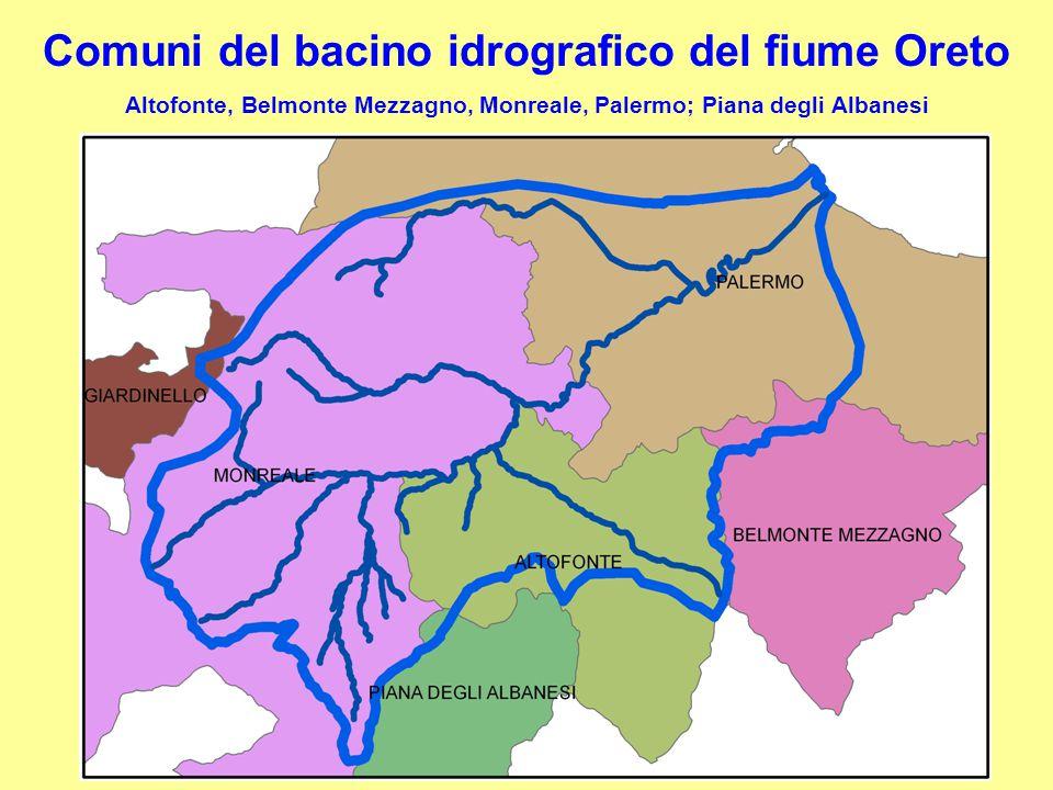 Comuni del bacino idrografico del fiume Oreto Altofonte, Belmonte Mezzagno, Monreale, Palermo; Piana degli Albanesi