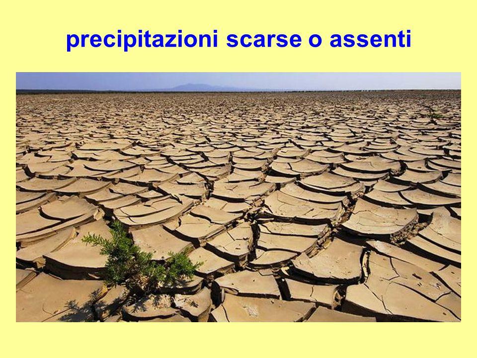 precipitazioni scarse o assenti