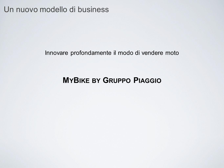 Un nuovo modello di business Innovare profondamente il modo di vendere moto M Y B IKE BY G RUPPO P IAGGIO