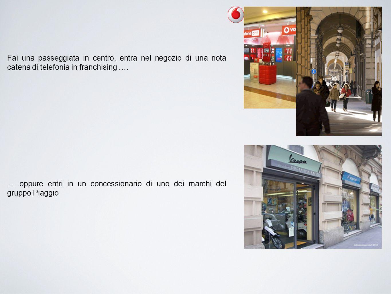 Fai una passeggiata in centro, entra nel negozio di una nota catena di telefonia in franchising …. … oppure entri in un concessionario di uno dei marc