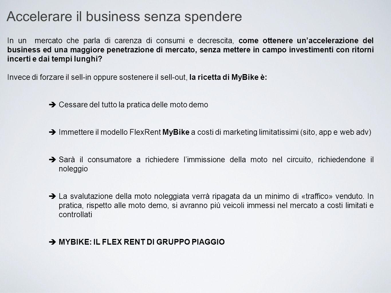Accelerare il business senza spendere In un mercato che parla di carenza di consumi e decrescita, come ottenere un'accelerazione del business ed una m