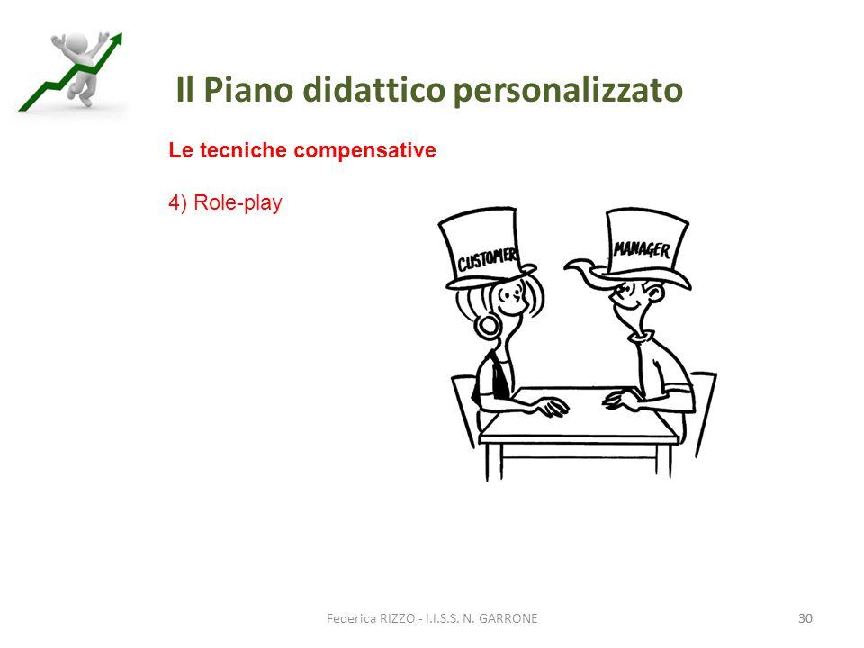 Le tecniche compensative 4) Role-play Il Piano didattico personalizzato 30 Federica RIZZO - I.I.S.S.