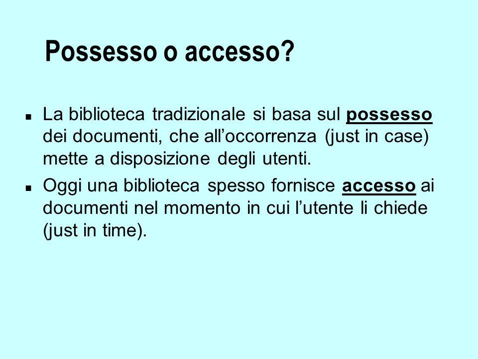 Possesso o accesso.