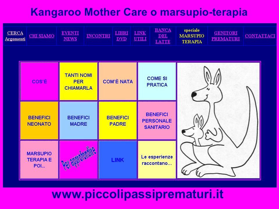 Kangaroo Mother Care o marsupio-terapia www.piccolipassiprematuri.it
