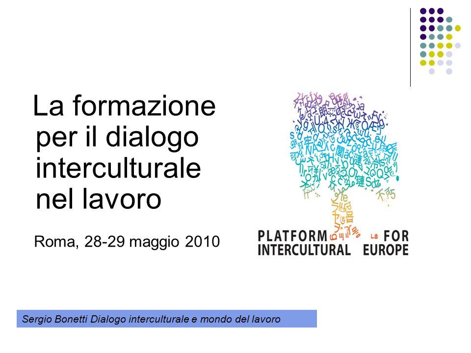La formazione per il dialogo interculturale nel lavoro Roma, 28-29 maggio 2010 Sergio Bonetti Dialogo interculturale e mondo del lavoro
