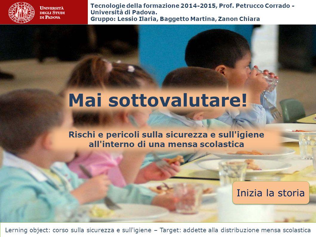Tecnologie della formazione 2014-2015, Prof.Petrucco Corrado - Università di Padova.