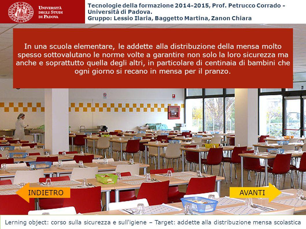 In una scuola elementare, le addette alla distribuzione della mensa molto spesso sottovalutano le norme volte a garantire non solo la loro sicurezza m