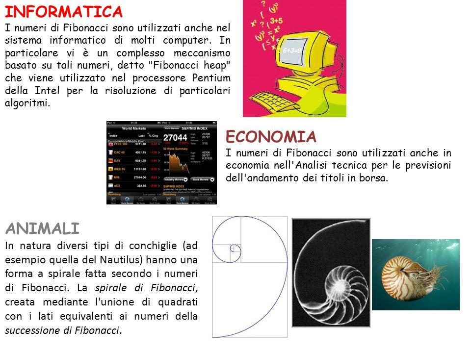 INFORMATICA I numeri di Fibonacci sono utilizzati anche nel sistema informatico di molti computer.