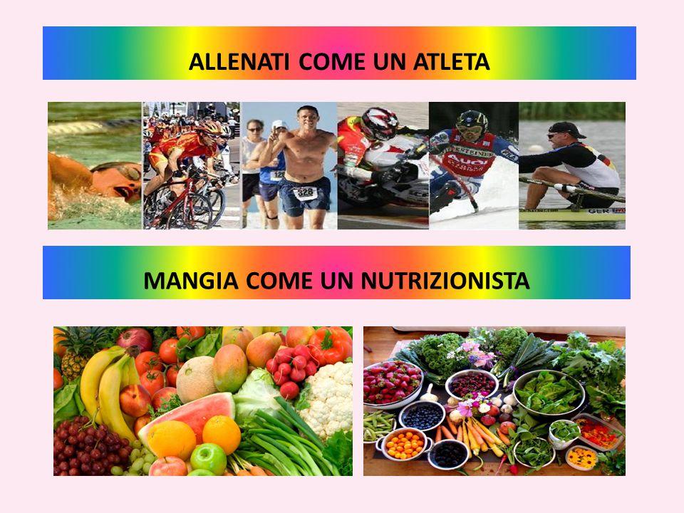 ALLENATI COME UN ATLETA MANGIA COME UN NUTRIZIONISTA