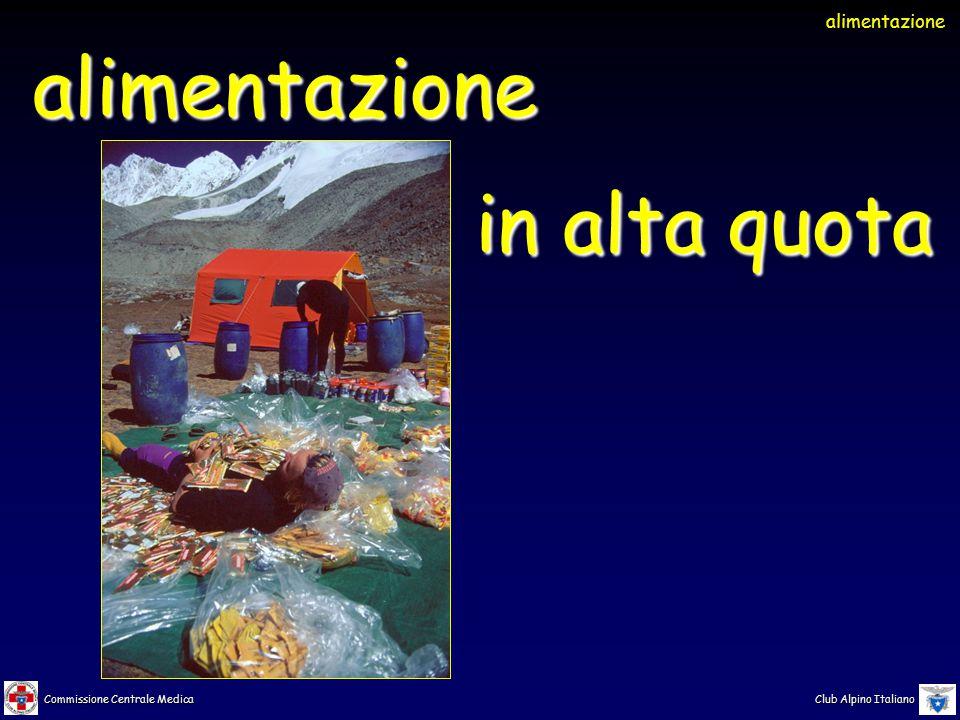 Commissione Centrale Medica Club Alpino Italiano alimentazione alimentazione in alta quota