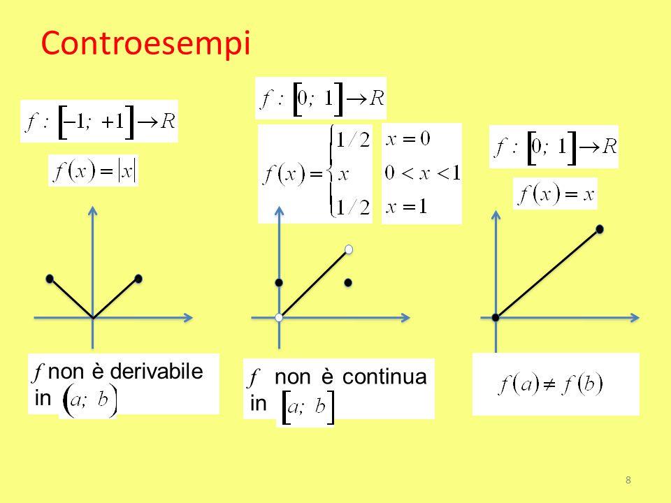 Controesempi f non è derivabile in f non è continua in 8