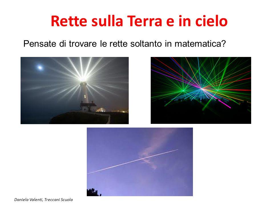 Daniela Valenti, Treccani Scuola Equazione di una retta parallela all'asse x La scia di un aereo fa pensare ad una retta generata da un punto che 'va dritto senza curvare'.