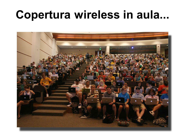 Copertura wireless in aula...