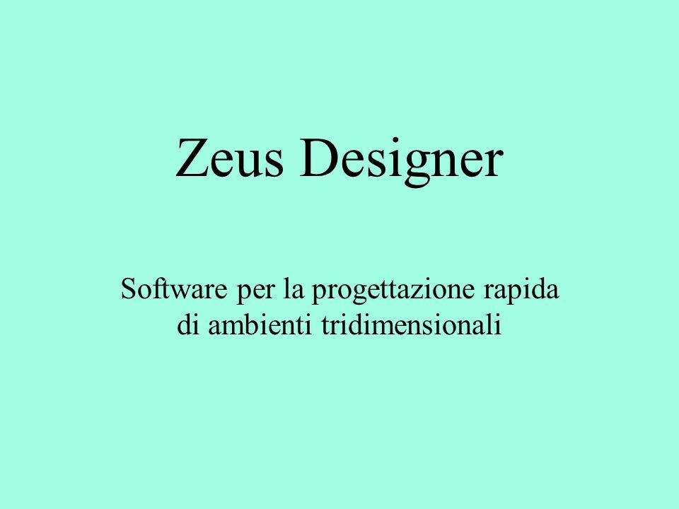 Zeus Designer Software per la progettazione rapida di ambienti tridimensionali