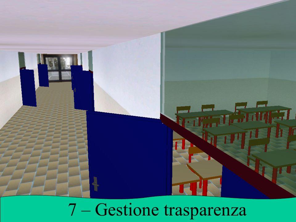 7 – Gestione trasparenza