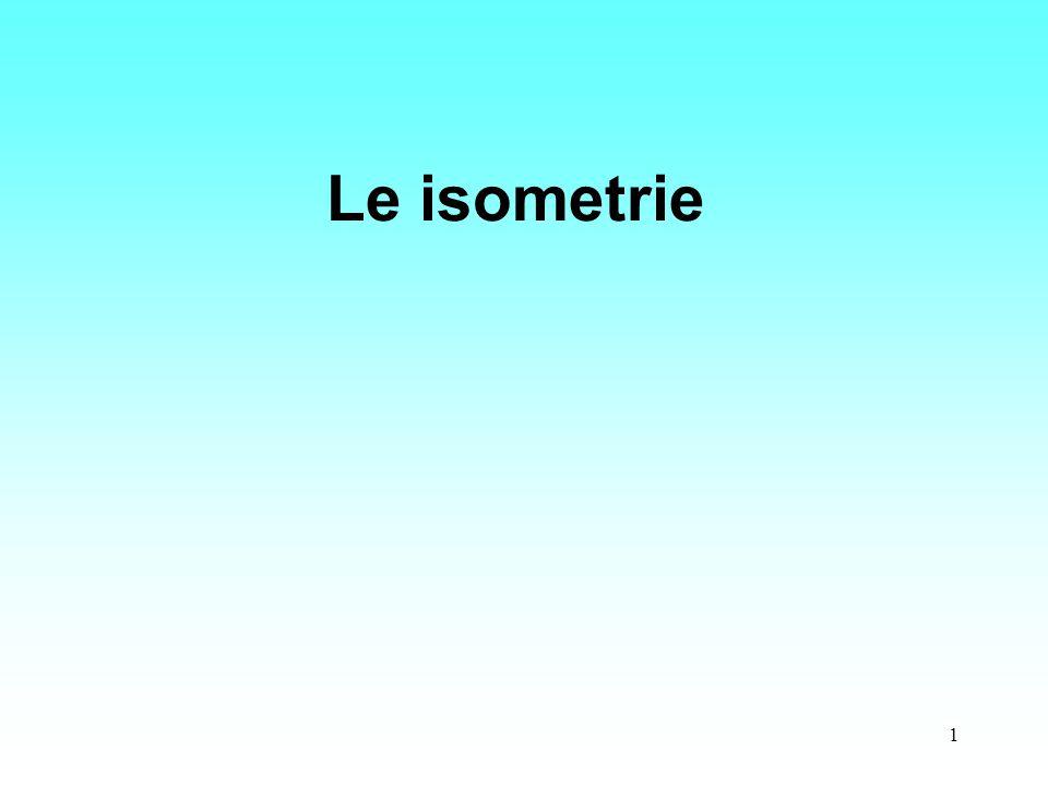 1 Le isometrie