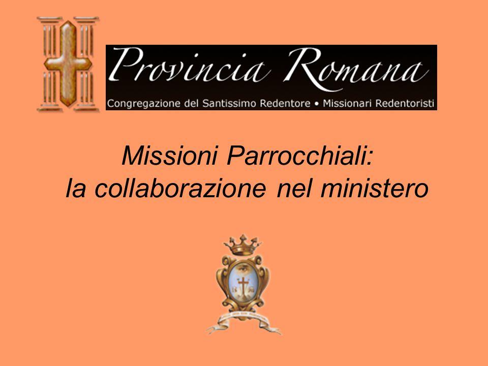Missioni Parrocchiali: la collaborazione nel ministero