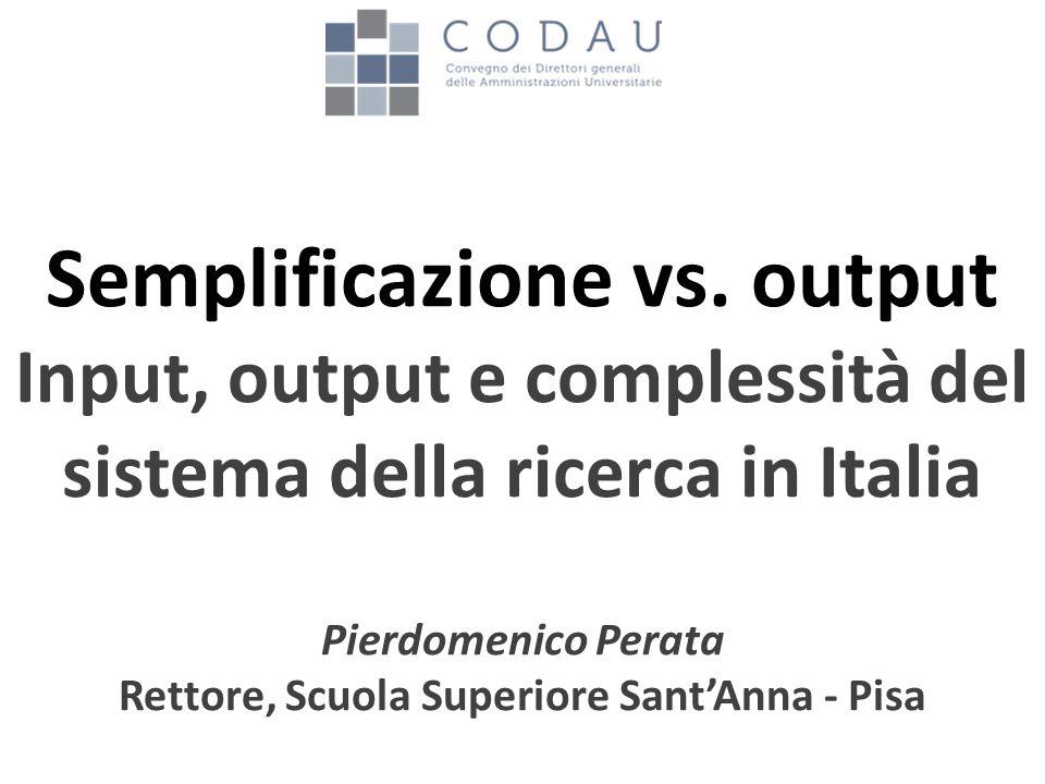 Semplificazione vs.