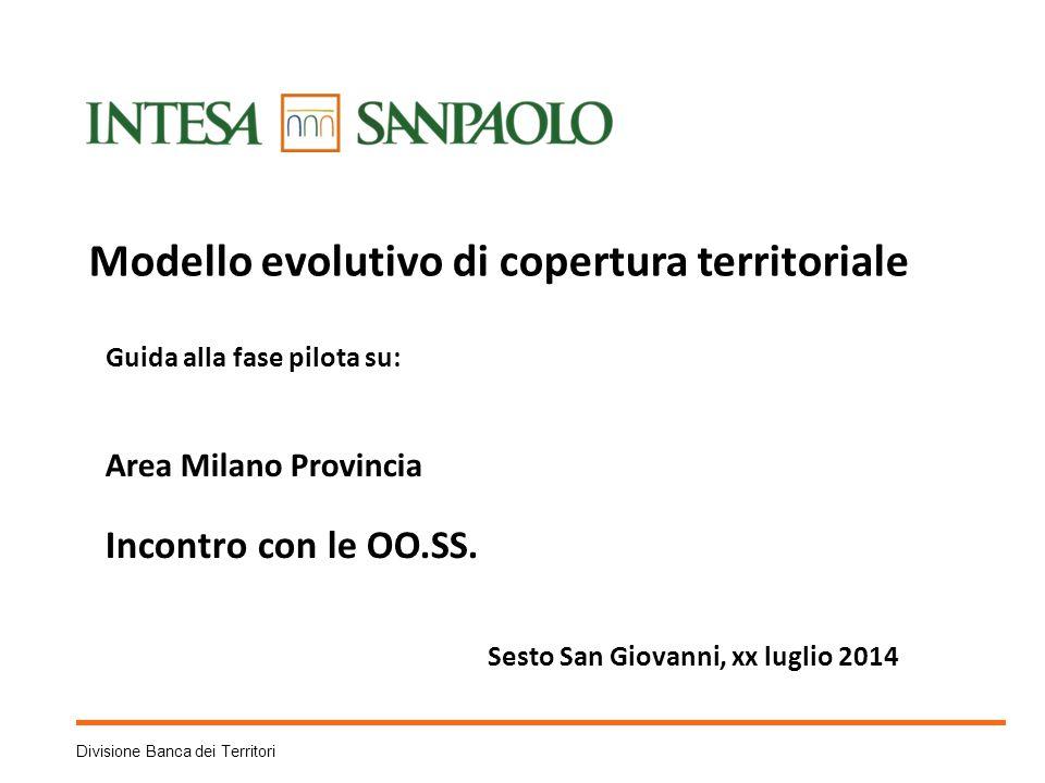 Divisione Banca dei Territori Modello evolutivo di copertura territoriale Guida alla fase pilota su: Area Milano Provincia Incontro con le OO.SS.