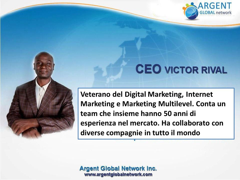 Veterano del Digital Marketing, Internet Marketing e Marketing Multilevel.