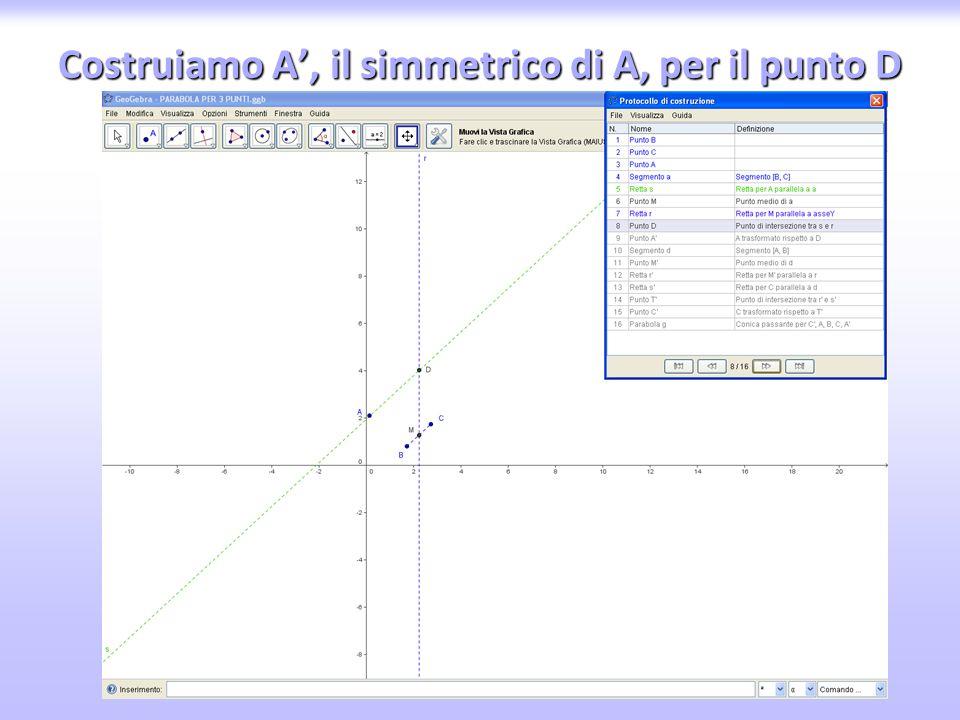 Tracciamo la circonferenza con centro C e raggio AC≡BC≡DC