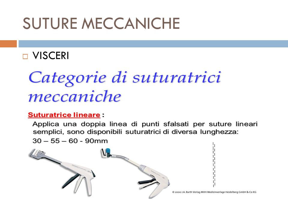 SUTURE MECCANICHE  VISCERI