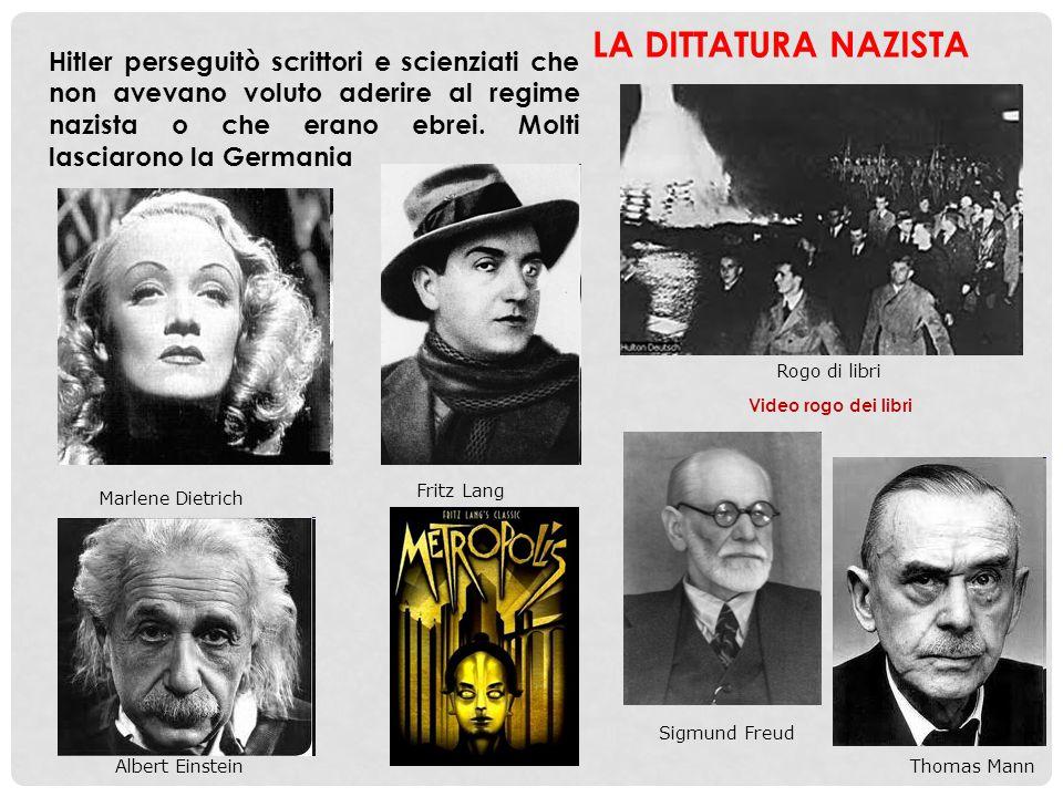 Video rogo dei libri Rogo di libri Hitler perseguitò scrittori e scienziati che non avevano voluto aderire al regime nazista o che erano ebrei. Molti