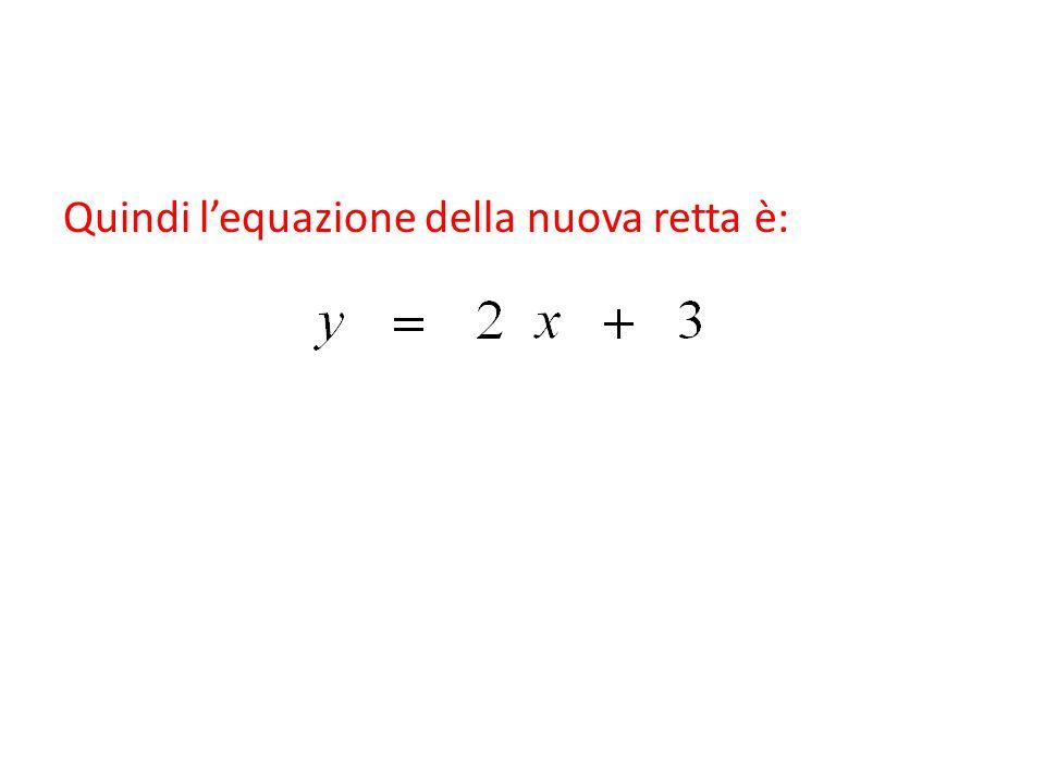Quindi l'equazione della nuova retta è: