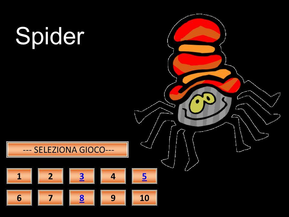 Skeleton --- SELEZIONA GIOCO--- 12345 678910