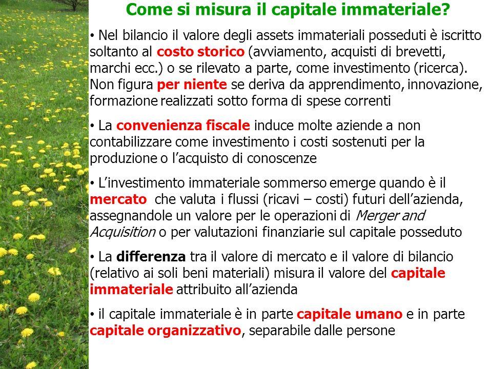 Come si misura il capitale immateriale.