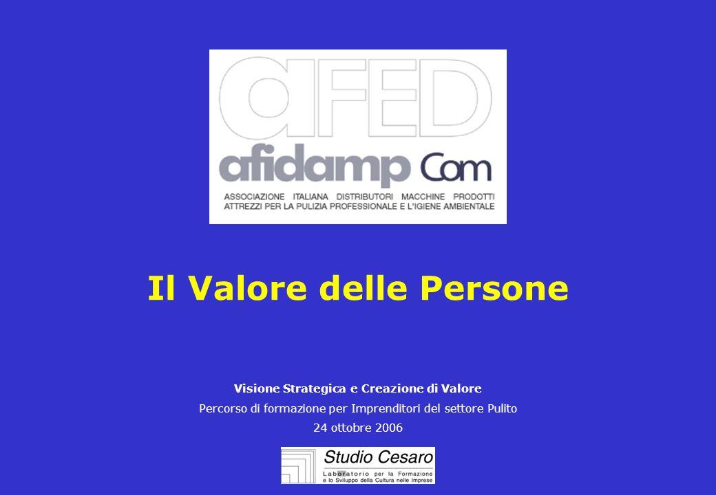 Il Valore delle Persone Visione Strategica e Creazione di Valore Percorso di formazione per Imprenditori del settore Pulito 24 ottobre 2006